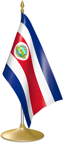 Costa Rican table flags - desk flags