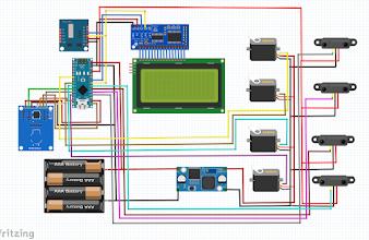 Mạch Bãi đỗ xe thông minh Arduino Nano - LCD 20x4 - Module DS1307