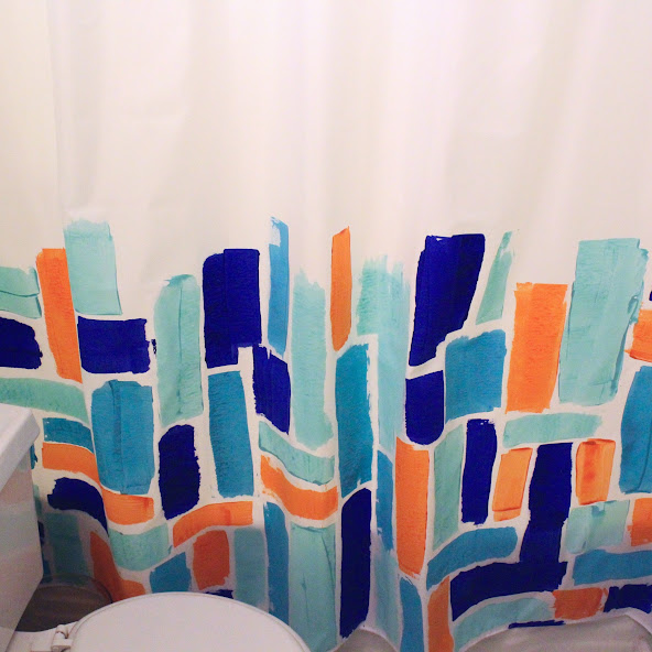 Abstract Painted Shower Curtain