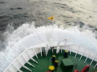Rough seas on the Navimag