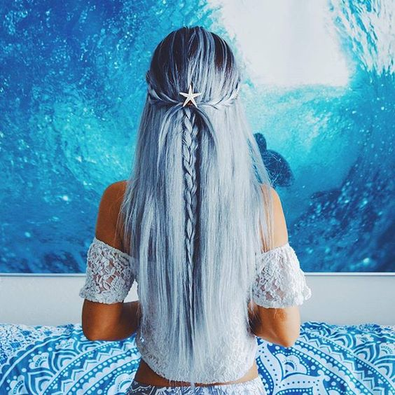 Blue Hairstyles For long Hair-It Is Different 2017 10