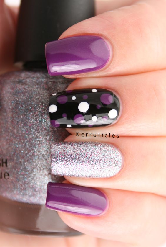 Spectacular Purple Acrylic Nails Art Designs For 2018 Fashionre