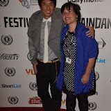 OIC - ENTSIMAGES.COM - Junichi Kajioka and Maeve Murphy at the Taking Stock Premiere at the Raindance Film Festival  London 4th October 2015  Photo Mobis Photos/OIC 0203 174 1069