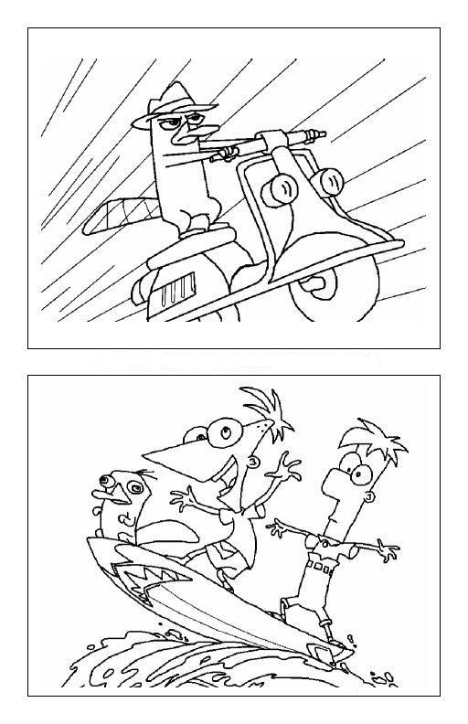 Dibujos para colorear de Phineas y Ferb bebés - Imagui