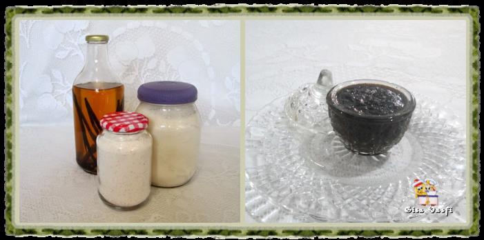 Açúcar, extrato e pasta de baunilha 1