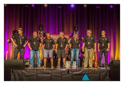 """Geocaching Giga-Event """"Gutenberg 2015"""" - Das Orga-Team auf der Bühne"""