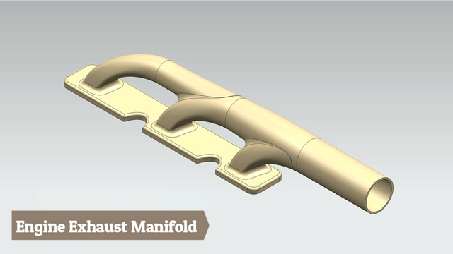 Engine Exhaust Manifold--Siemens NX Tutorial