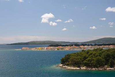 Blick auf die Insel Krapanj