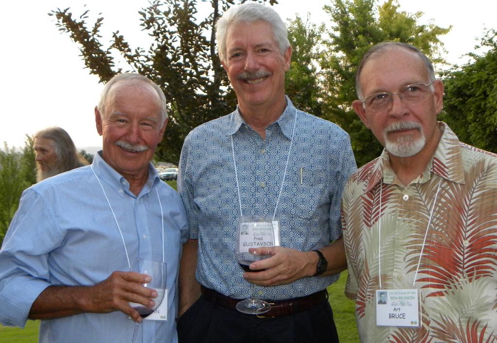 Woody Morgan, Fred Gustavson, Art Bruce
