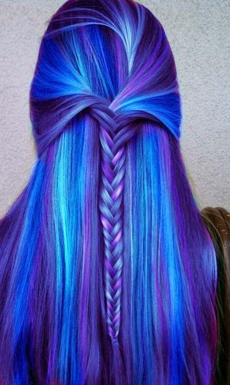 Blue Hairstyles For long Hair-It Is Different 2017 5