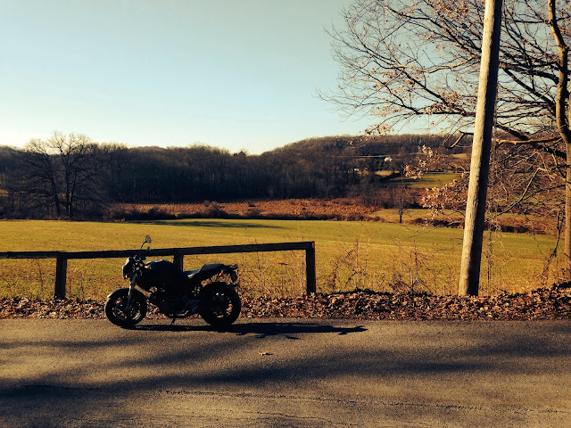 Winter Ducati Ride in Chester County Pennsylvania via Tigho NYDucati.