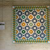 AL-HAMRA - Brigitte Le Guerroué - piécé et quilté machine Librement inspiré des mosaïques de Grenade - Espagne
