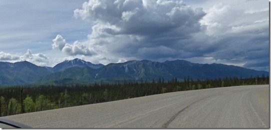 Alaska Highway Road Construction, between Destruction Bay and Beaver Creek