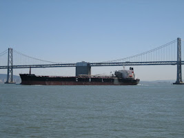 Container ship in San Francisco Bay