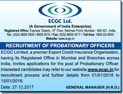 ECGC PO Advertisement 2018 www.indgovtjobs.in