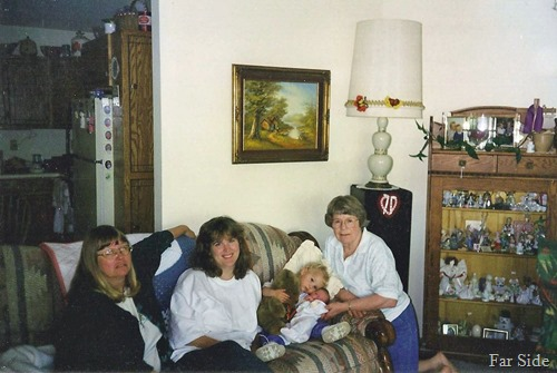 Four generations Me, Trica, Savannah and Maddie and Madeline 1998