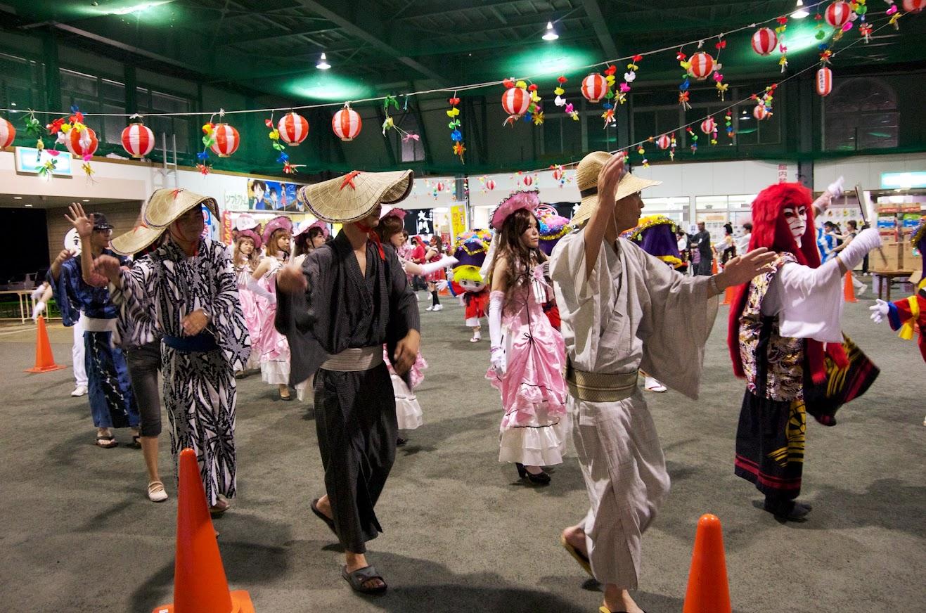 北竜町盆踊り 2014 の様子