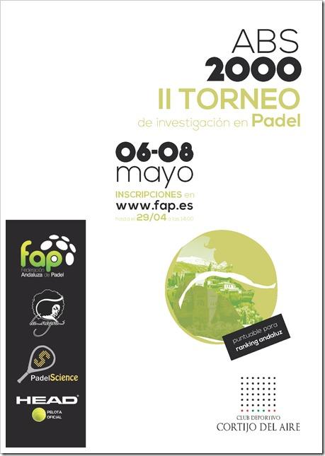 Torneo ABS 2000 de Investigación en Pádel puntuable para la FAP del 6-8 mayo de 2016.