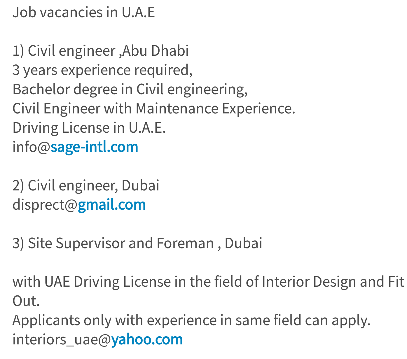 In The Field Of Interior Design And Fit Out Applicants Only With Experience Same Can Apply Interiors Uaeyahoo 198 Likes O 34 Comments