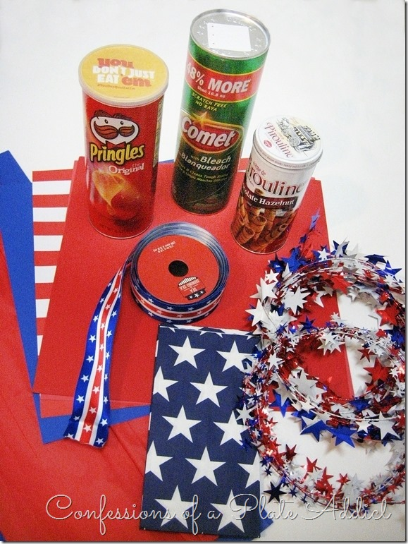 CONFESSIONS OF A PLATE ADDICT DIY Patriotic Firecrackers SUPPLIES