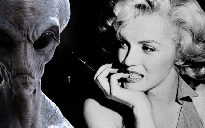 Marilyn Monroe teria sido assassinada porque sabia que existiam alienígenas 00