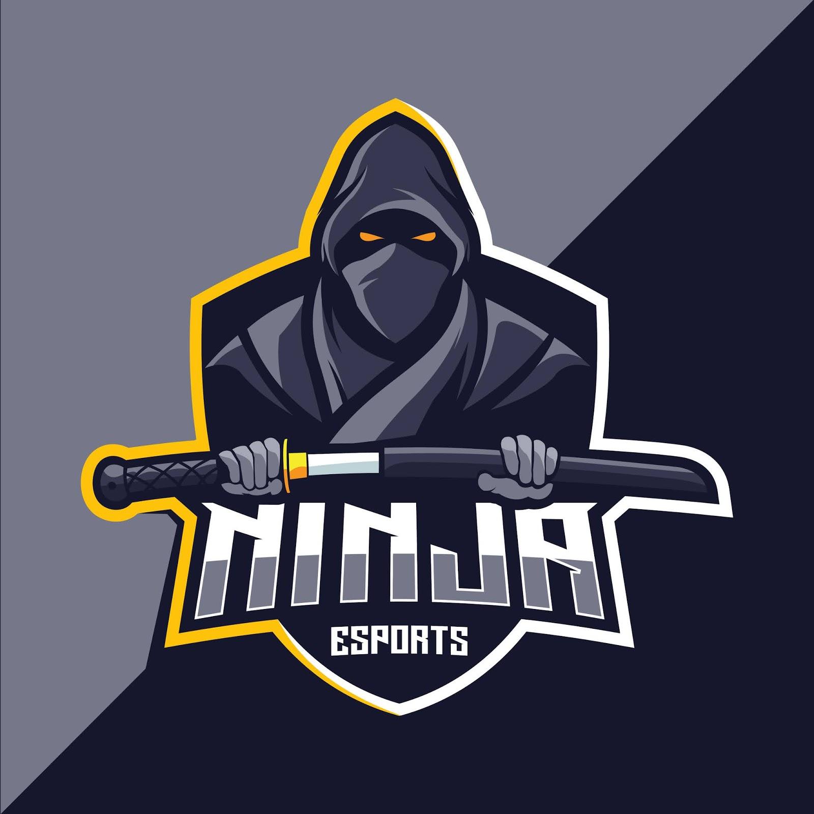 Ninja Mascot Esport Logo Design Free Download Vector CDR, AI, EPS and PNG Formats