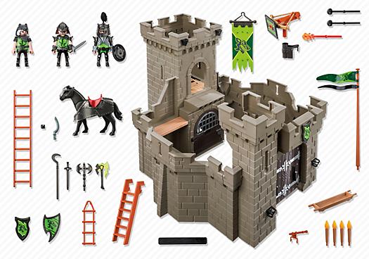 Contenido real de Playmobil® 6002 Fortaleza de los Caballeros del Lobo