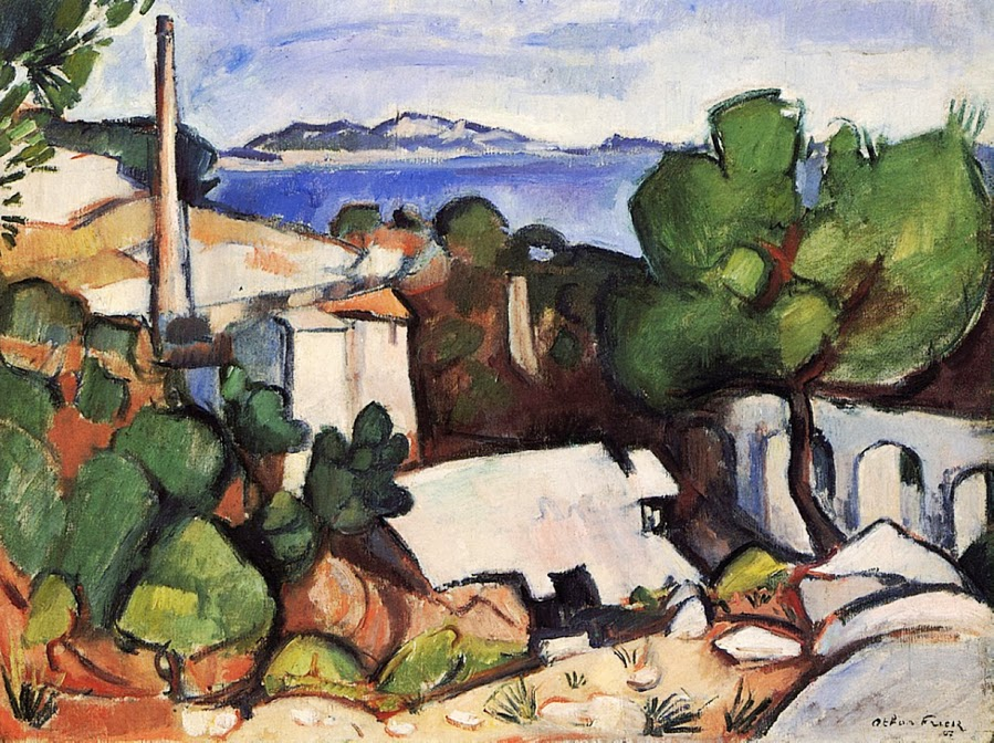 Othon Friesz - Estaque Landscape 1907.
