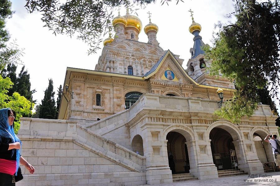 Церковь или Храм Святой Марии Магдалины (Гефсимания) на Елеонской горе (Масли́чная гора). Экскурсия Иерусалим Христианский. Гид в Иерусалиме Светлана Фиалкова.
