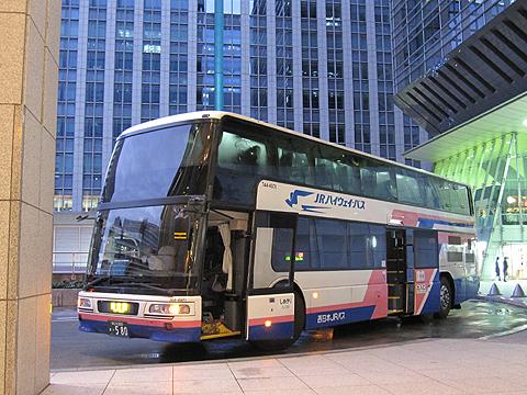 西日本JRバス「東海道昼特急大阪6号」 744-3901 東京駅日本橋口到着