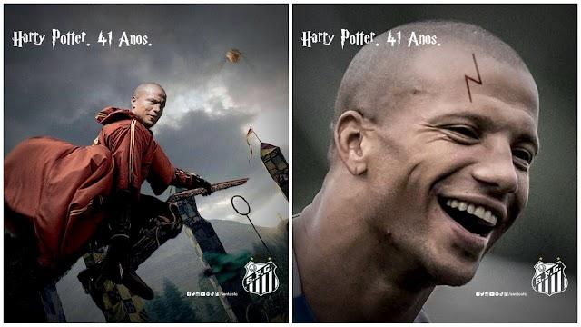 """Santos faz homenagem a Harry Potter colocando Sánchez no """"quadribol"""""""