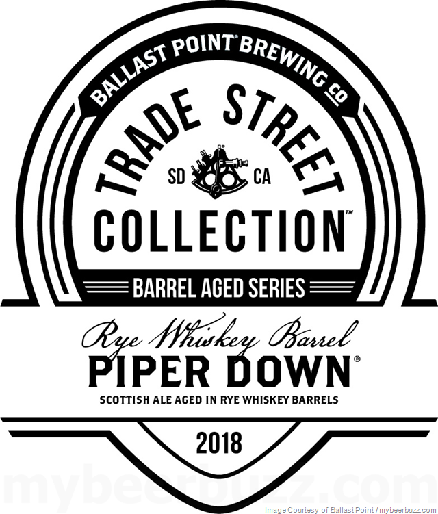 Ballast Point Trade Street Collection - Rye Whiskey Barrel Piper Down