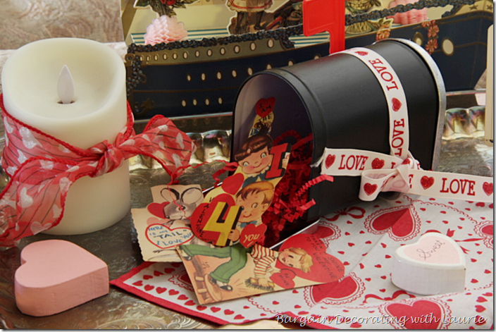 Valentines spilling out of mailbox
