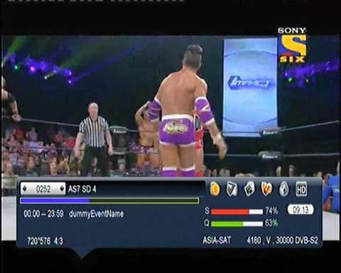 BISS KEY HD: Sony Six,Sony Espn,Sony Wah Asiasat 7 @105 E