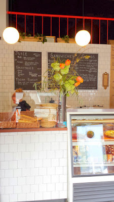 Inside Addy's Sandwiches at the counter
