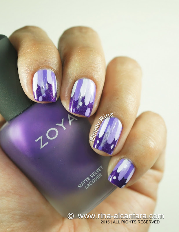 Violets are Blue Nail Art on Zoya Savita