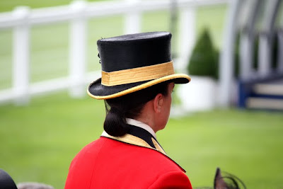Woman riding a horse at Royal Ascot