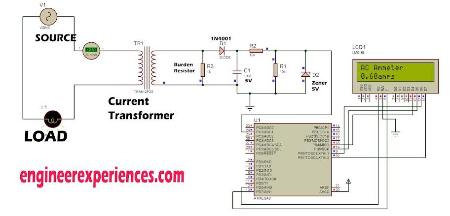 AC current measurement using Atmel AVR Microcontrollers