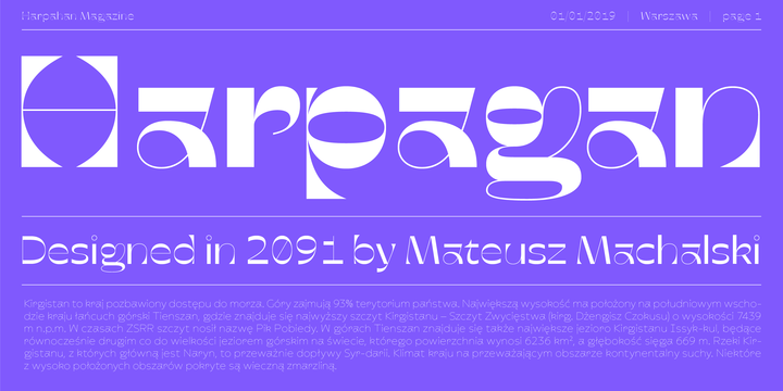 Download Harpagan Font Family From BORUTTA GROUP