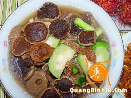 Canh nấm tràm Quảng Bình