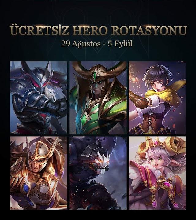 Arena of Valor 29 Ağustos - 5 Eylül Ücretsiz Kahraman Rotasyonu
