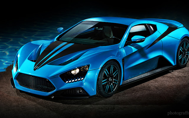 Zenvo St1 Blue Zenvo St1 Blue Google Car