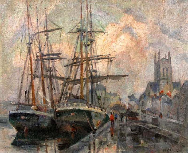 Robert Antoine Pinchon - Le port de Fécamp
