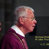 Hermann Rickers  40 Jahre Priester
