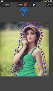 Cara Membuat Edit Foto Garis Putus-putus Ala Awkarin Mudah