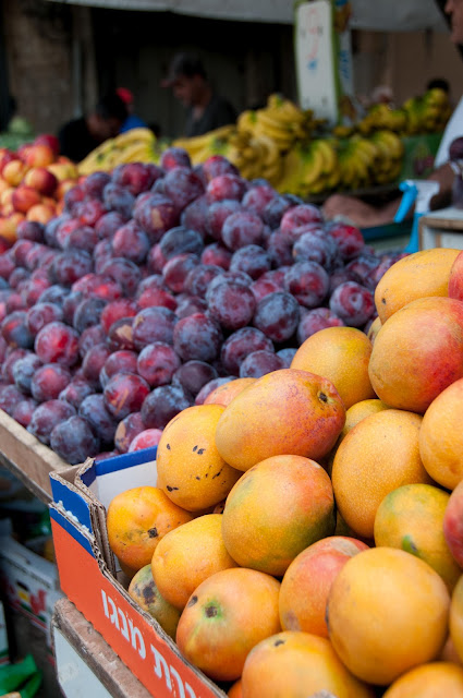 mangoes, grapes, bananas, ramle outdoor market