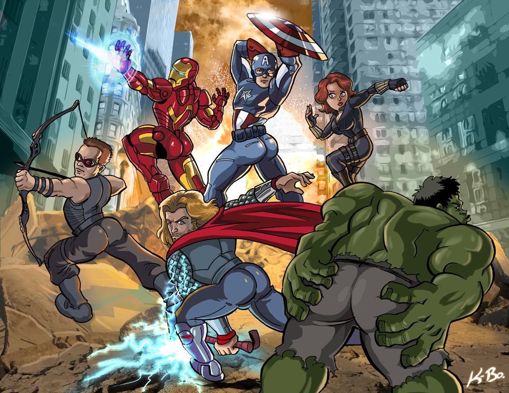 Parody of Promo picture for 'The Avengers' movie