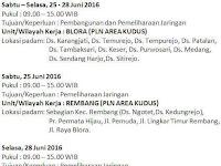 Pengumuman Pemadaman Listrik PLN di Rembang