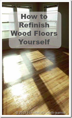 DIY refinish oak wood floors