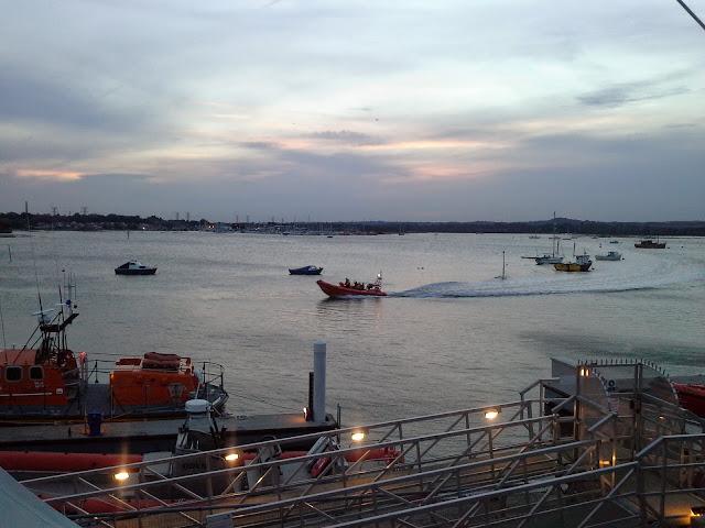 ILB returning slip way after launch - 6 June 2014. Photo credit: Sarah King, Poole RNLI